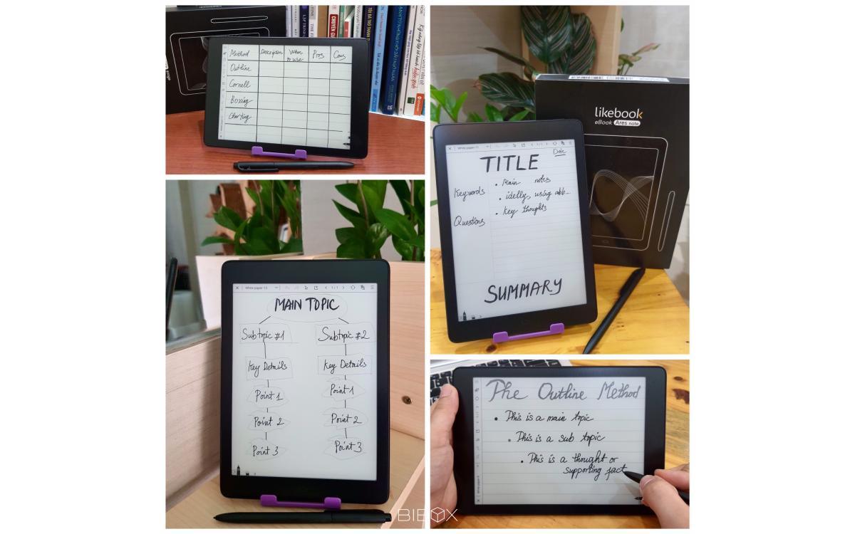 Ghi chú giúp bạn nhớ lại thông tin đã bị mất trên Máy đọc sách Likebook Ares