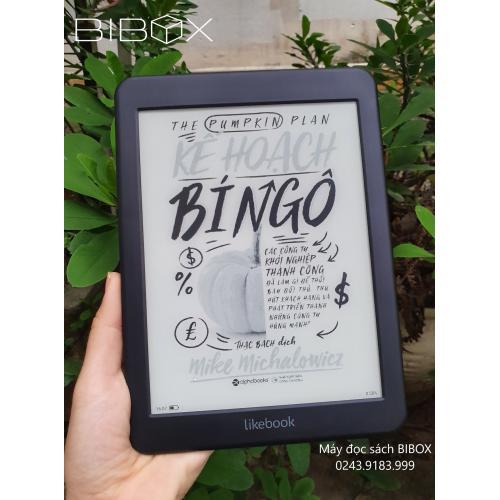 Combo: Máy đọc sách Likebook Mars + Bao da chính hãng + Dán màn hình + Túi chống sốc + Tặng Đồng hồ kèm loa cao cấp Massko